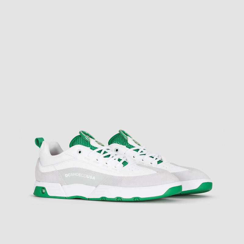 DC Legacy 98 Slim S White/White/Green - Footwear