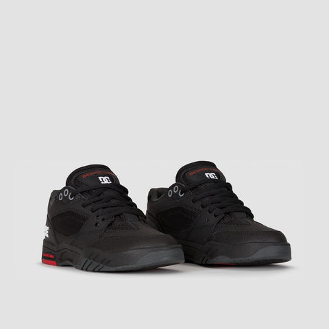 DC Maswell Black/White/True Red - Footwear
