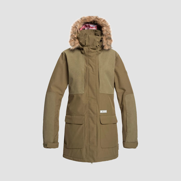 DC Panoramic Snow Jacket Olive Night - Womens