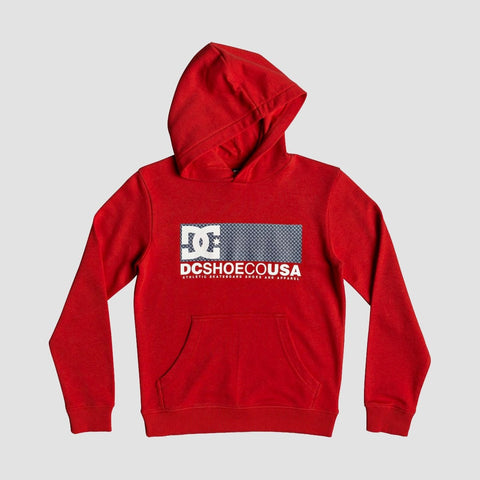 DC Pill Yard Pullover Hood Racing Red - Kids