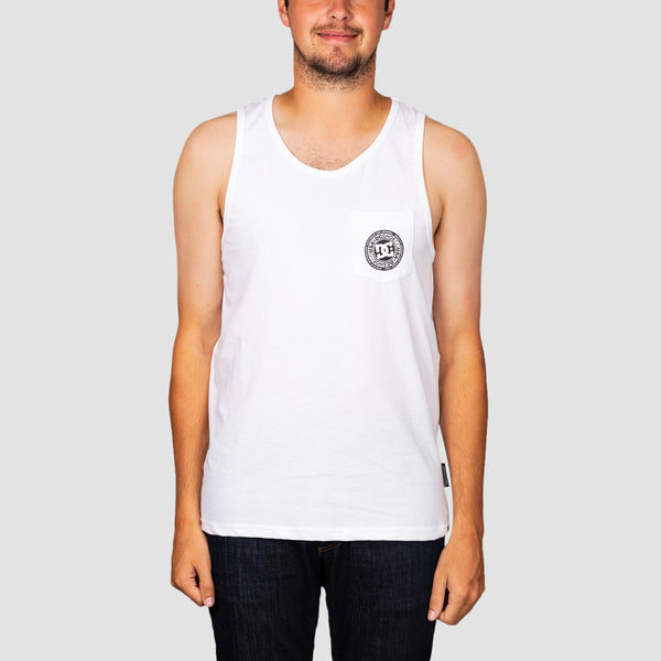 DC Pocket Tank Vest White