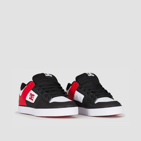 DC Pure Black/Athletic Red/Black - Footwear