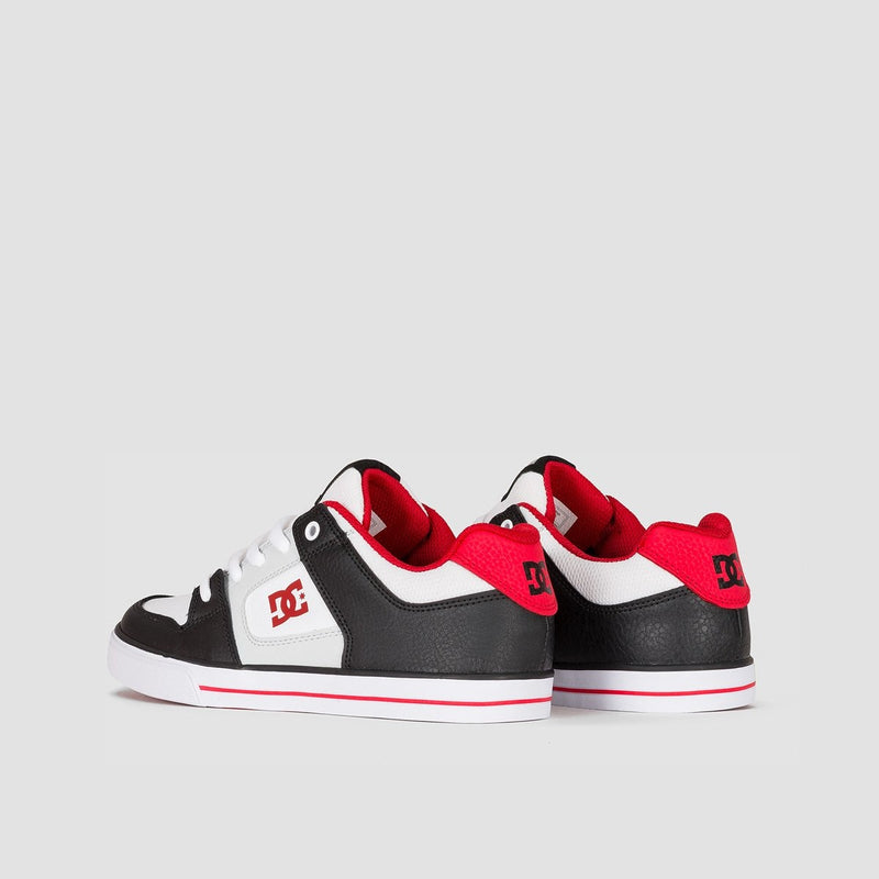 DC Pure Black/Grey/Red - Kids - Footwear