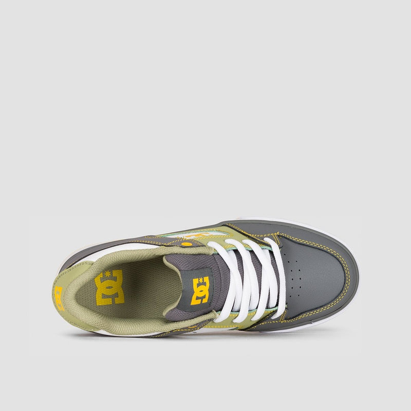 DC Pure Grey/White/Yellow - Kids - Footwear
