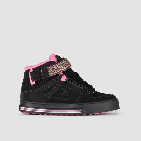 DC Pure Hi WNT Black/Black/Crazy Pink - Womens