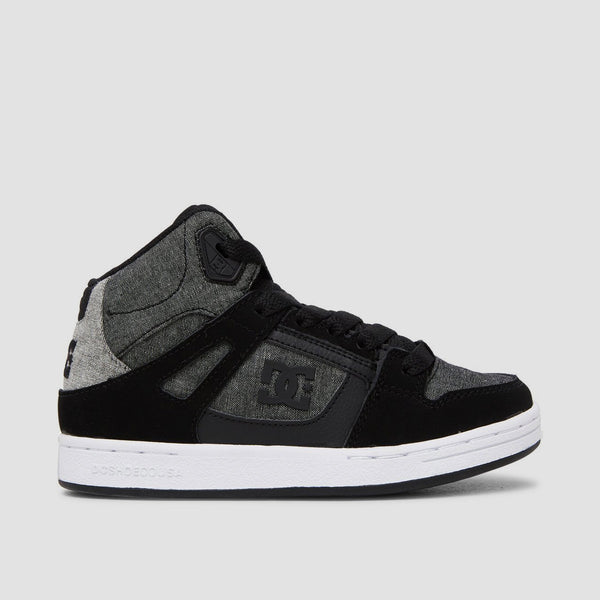 DC Pure HT Black/Heather Grey - Kids