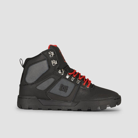 DC Pure HT WR Boot Black/Grey/Red