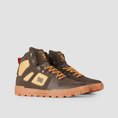 DC Pure HT WR Boot Chocolate Brown - Footwear