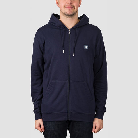 DC Rebel 3 Zip Hood Dark Indigo