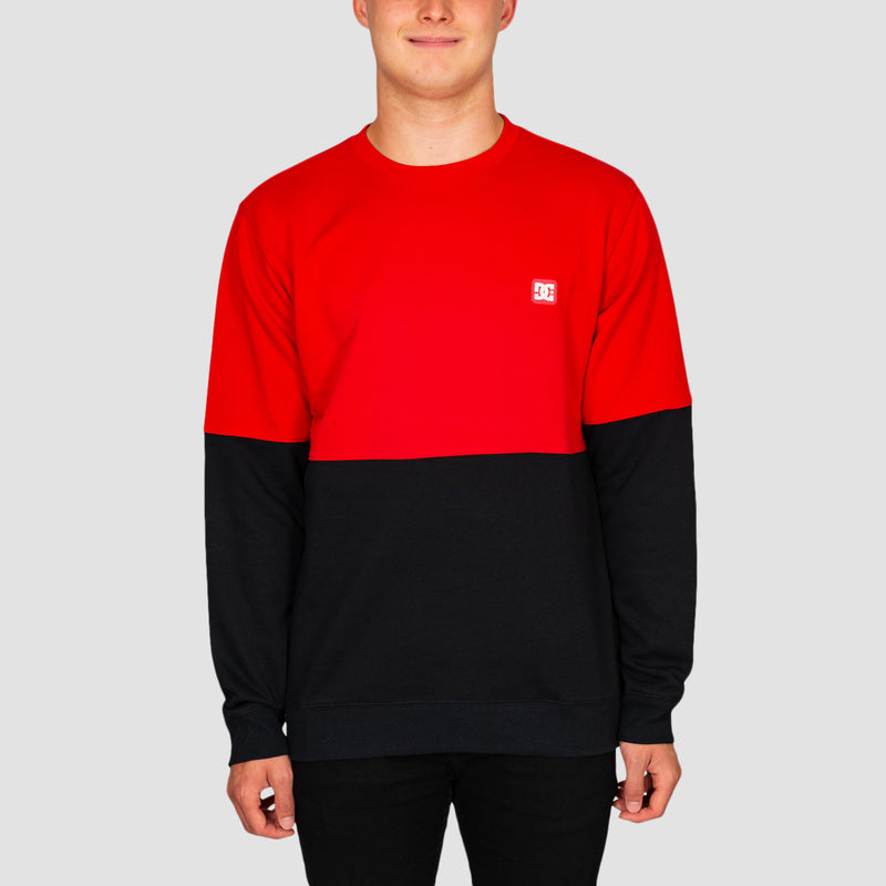 DC Rebel Block Crew Sweat Racing Red