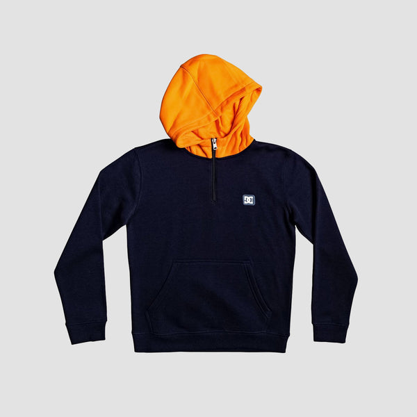 DC Rebel Halfzi Pullover Hood Dark Indigo/Orange Popsicle - Kids