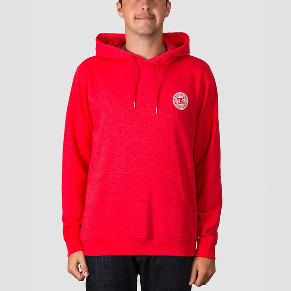 DC Rebel Pullover Hood Racing Red - Clothing