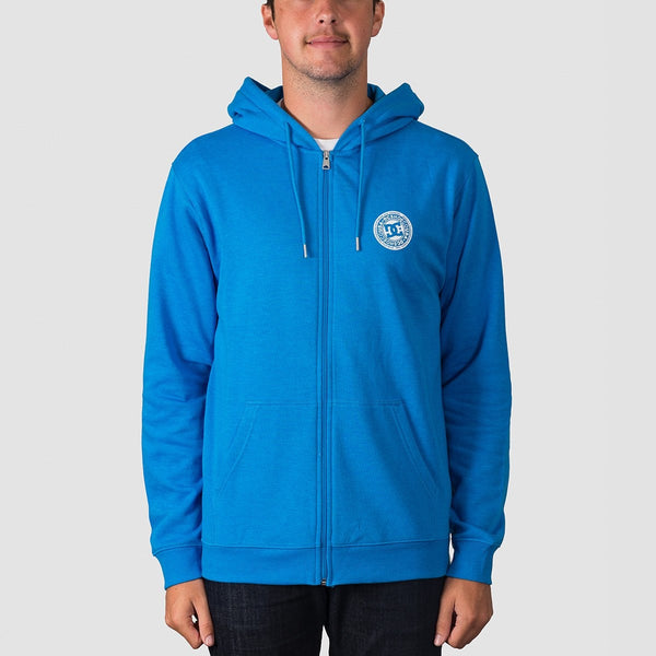 DC Rebel Zip Hood Brilliant Blue - Clothing