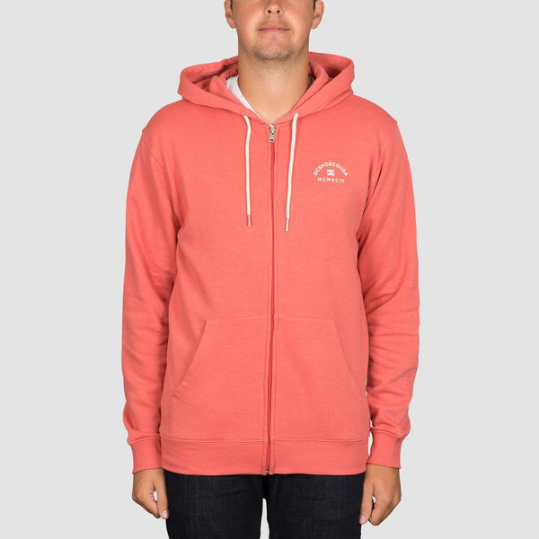 DC Rebel Zip Hood Porcelain Rose - Clothing