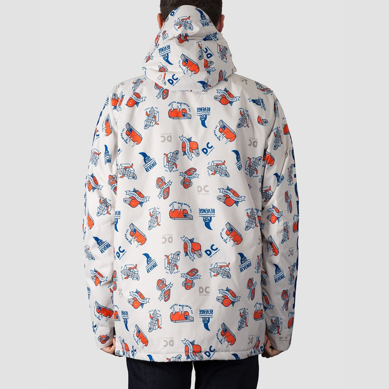 DC Ripley Snow Jacket Silver Birch Pbj Graphic - Snowboard