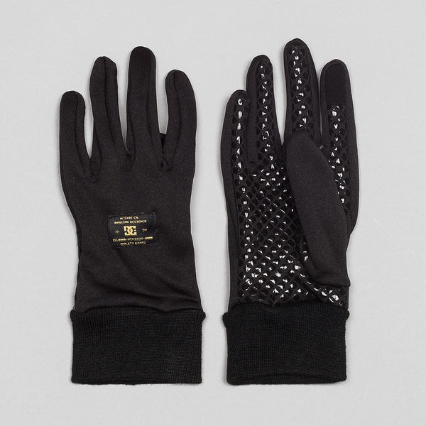 DC Shelter Snow/Ski Liner Gloves Black - Snowboard