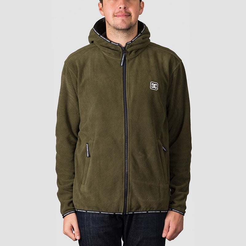 DC Shepton Fleece Jacket Fatigue Green - Snowboard