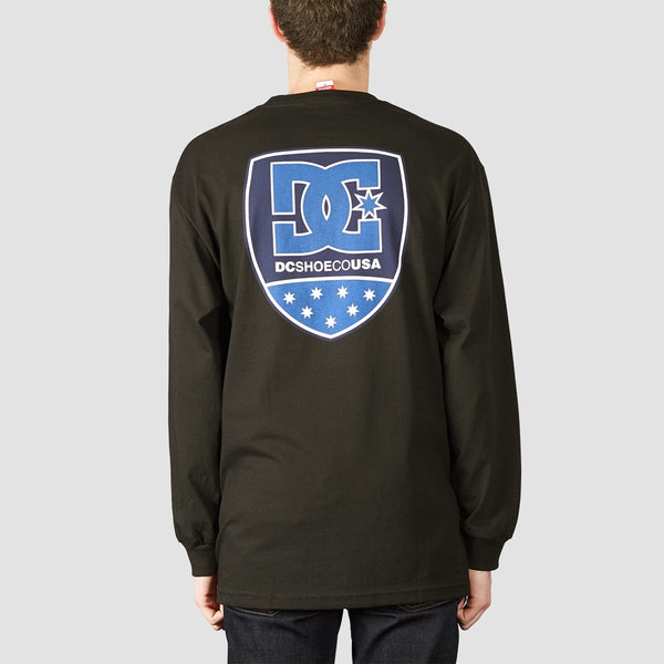 DC Shield Long Sleeve Tee Black - Clothing