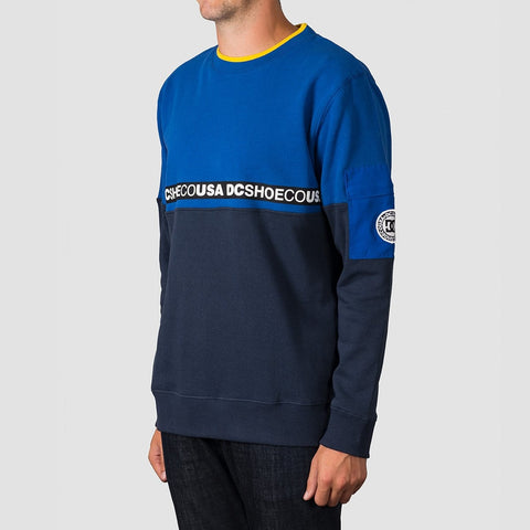 DC Simmons Crew Sweat Nautical Blue - Clothing