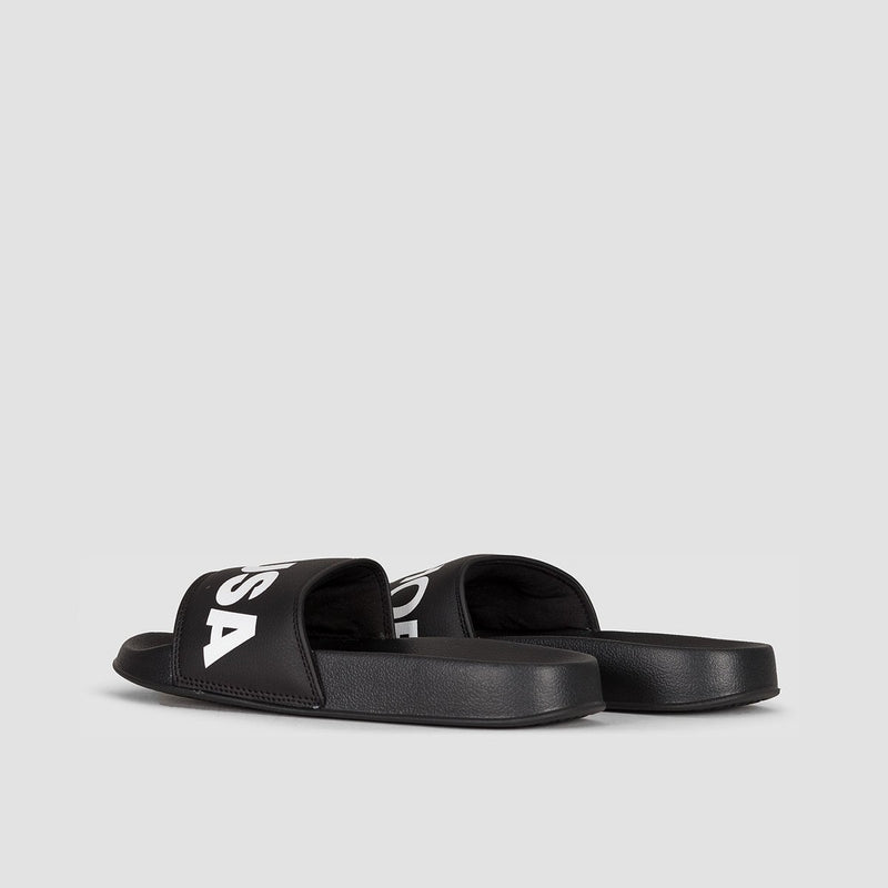 DC Dc Slide Sliders Black/White - Womens - Footwear