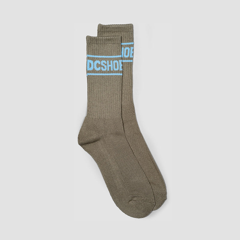DC Sock It Crew Socks Neutral Grey