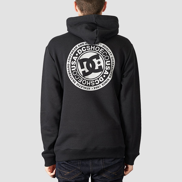 DC Splitted Pullover Hood Black - Clothing
