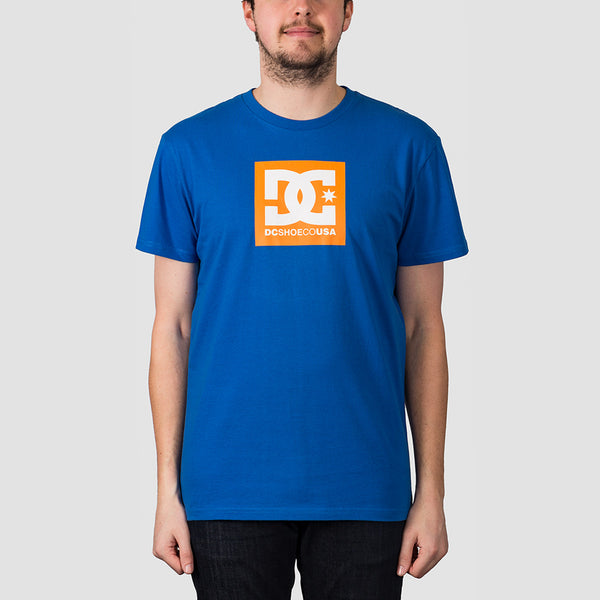 DC Square Star 2 Tee Nautical Blue/Orange Popsicle
