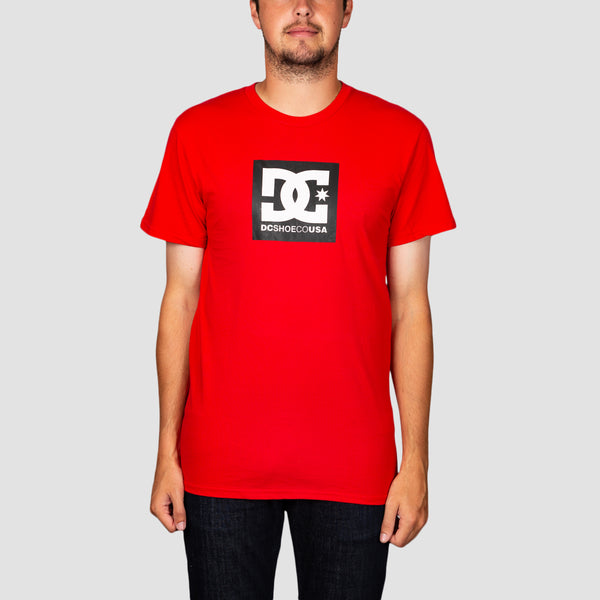 DC Square Star 2 Tee Racing Red