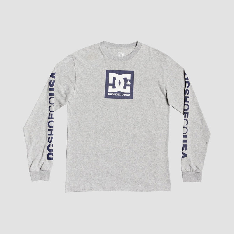 DC Square Star Longsleeve Tee Heather Grey - Kids