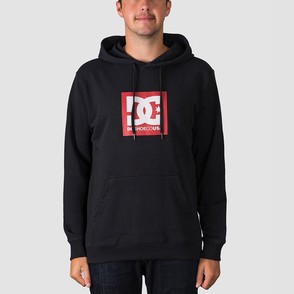DC Square Star Pullover Hood Black - Clothing