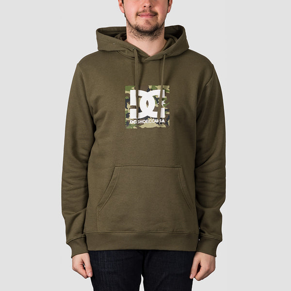 DC Square Star Pullover Hood Fatigue Green/Camo