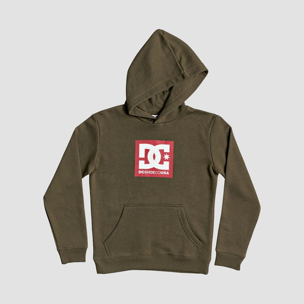 DC Square Star Pullover Hood Fatigue Green - Kids