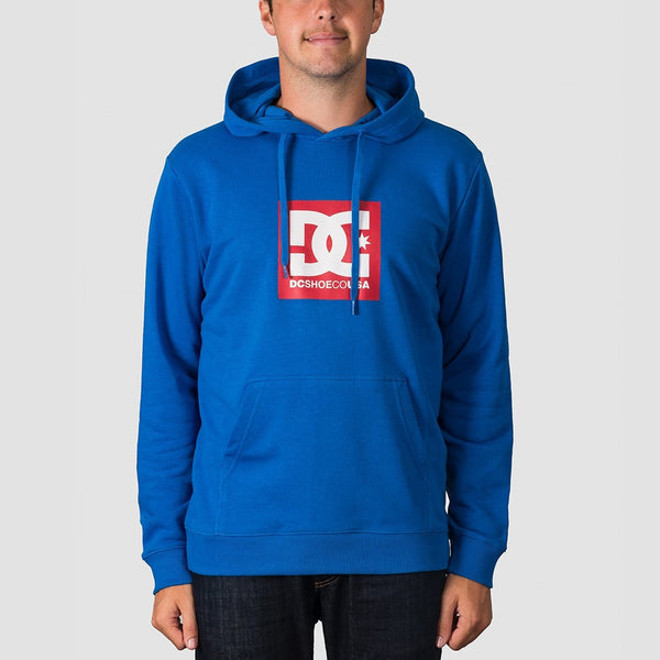 DC Square Star Pullover Hood Nautical Blue - Clothing