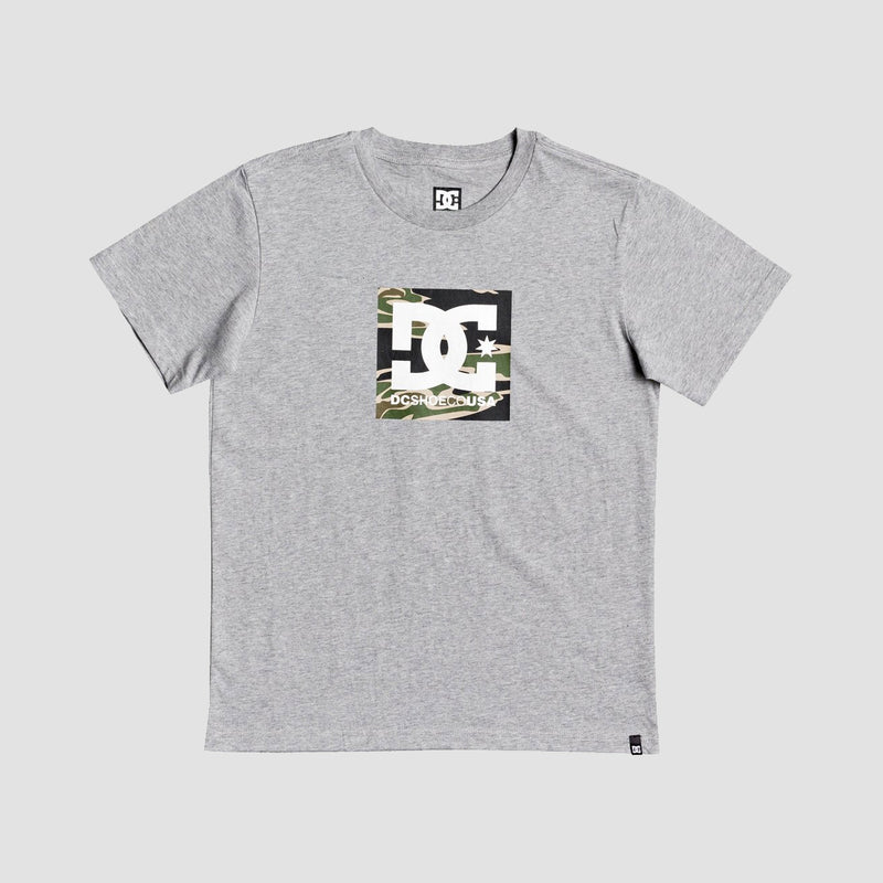 DC Square Star Tee Grey Heather - Kids