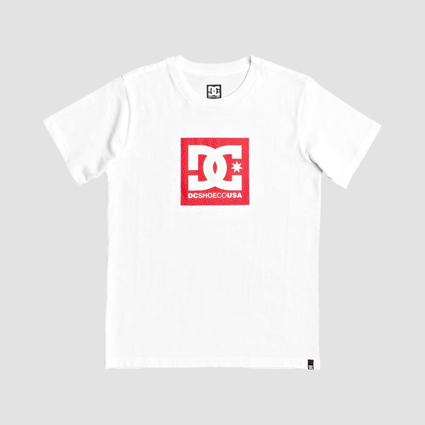 DC Square Star Tee Snow White/Red P - Kids