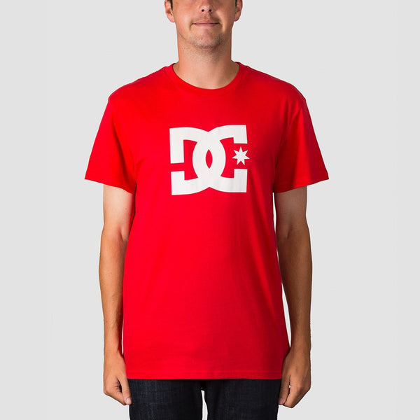 DC Star 2 Tee Racing Red - Clothing