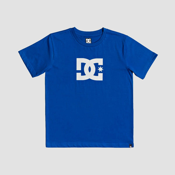 DC Star 3 Tee Nautical Blue/White - Kids