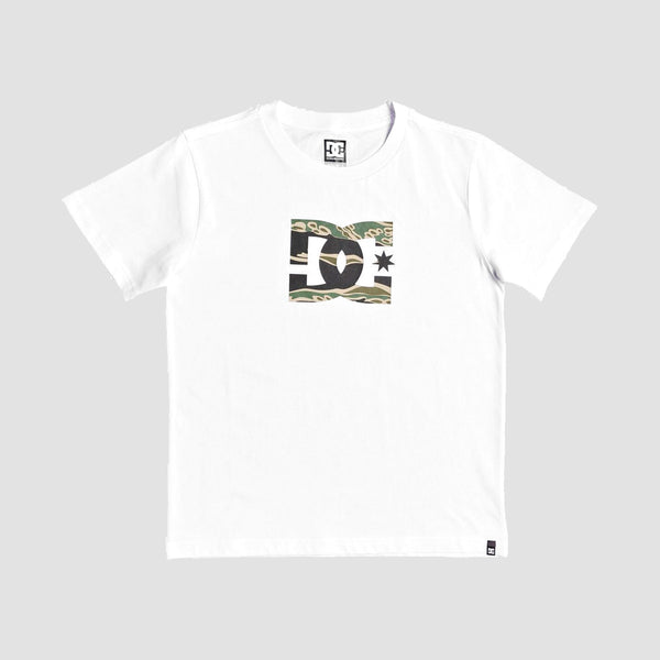 DC Star 3 Tee Snow White/Camo - Kids