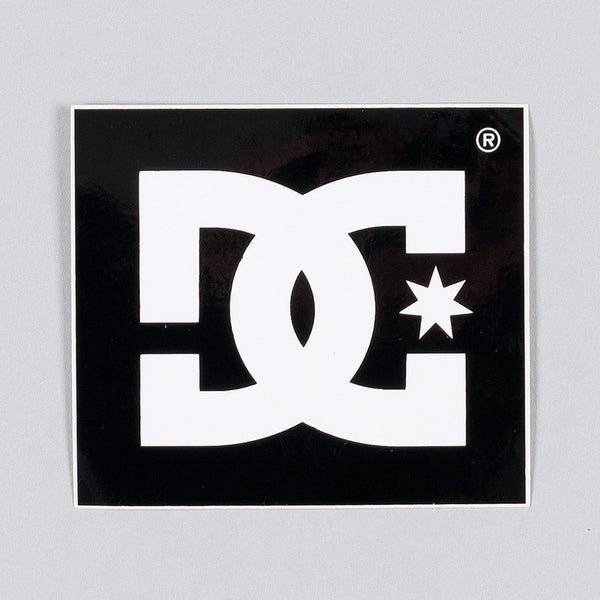 DC Star Logo Sticker 60mm x 55mm - Skateboard