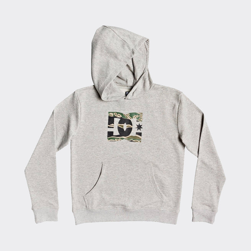 DC Star Pullover Hood Grey Heather/Camo - Kids