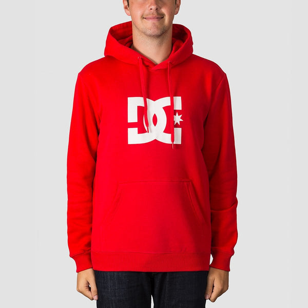 DC Star Pullover Hood Racing Red - Clothing