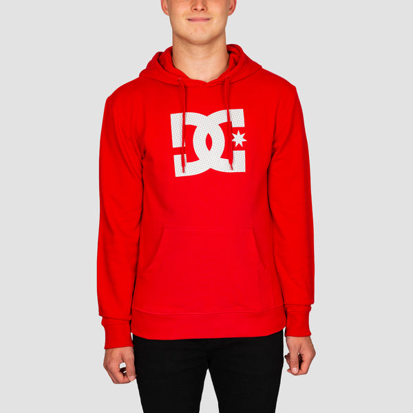 DC Star Pullover Hood Racing Red/White P