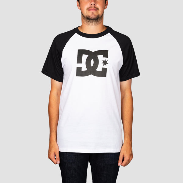 DC Star Raglan Tee Snow White/Black