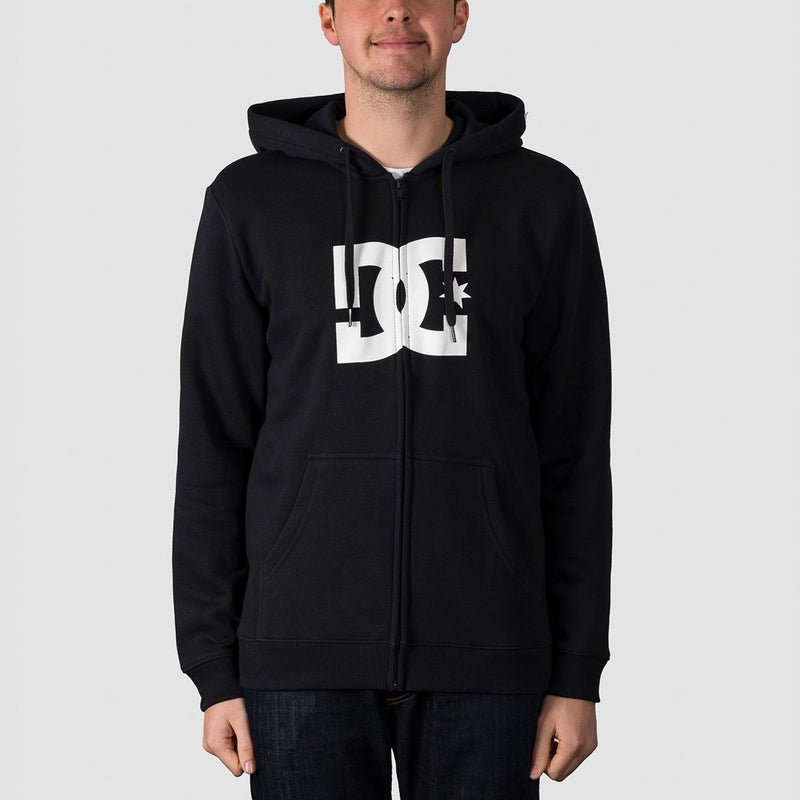 DC Star Zip Hood Black - Clothing
