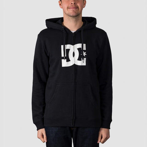 DC Star Zip Hood Black