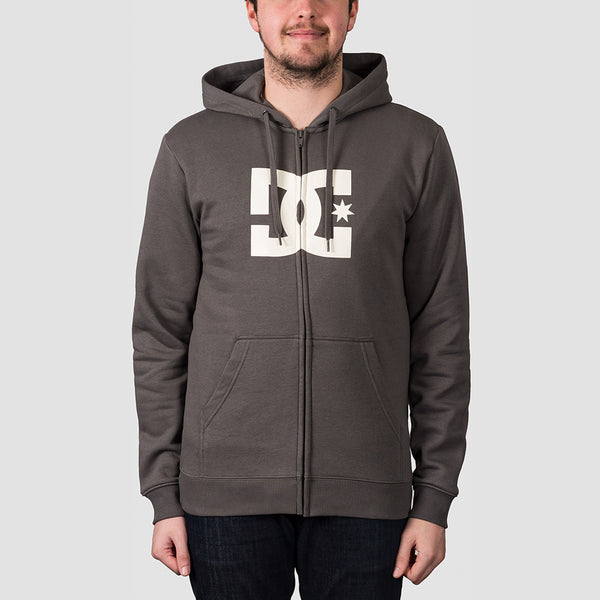 DC Star Zip Hood Dark Olive/Antique White