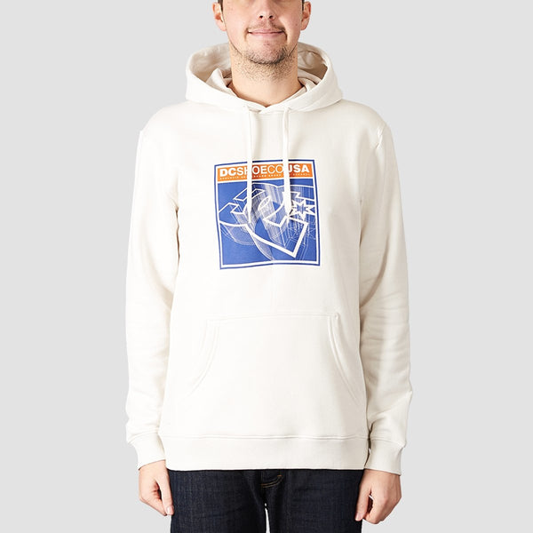 DC Terrain Pullover Hood Snow White - Clothing