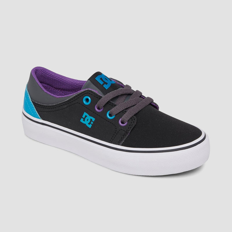 DC Trase Black/Grey/Blue - Kids