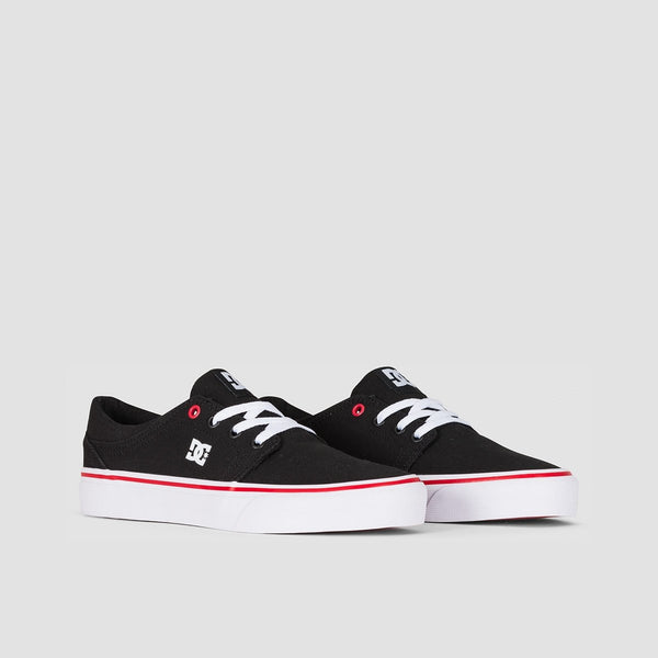 DC Trase TX Black/White/Red - Womens - Footwear