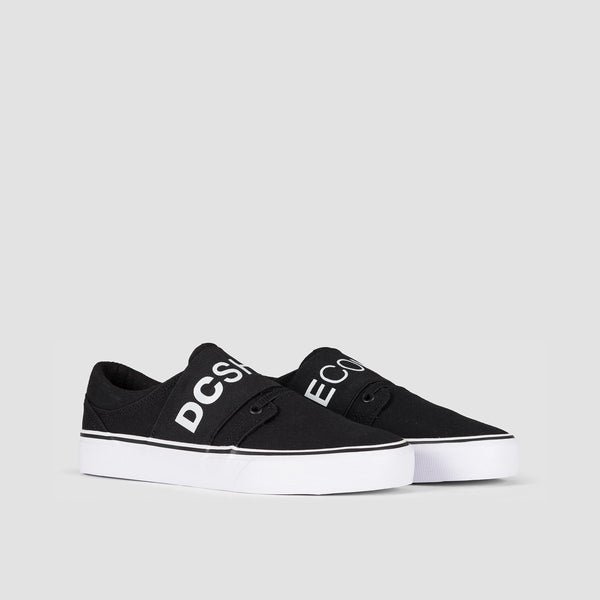 DC Trase TX SE Black/White - Womens - Footwear